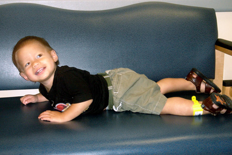 All smiles in the waiting room…