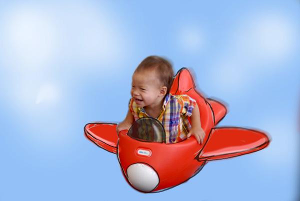 Noah in plane