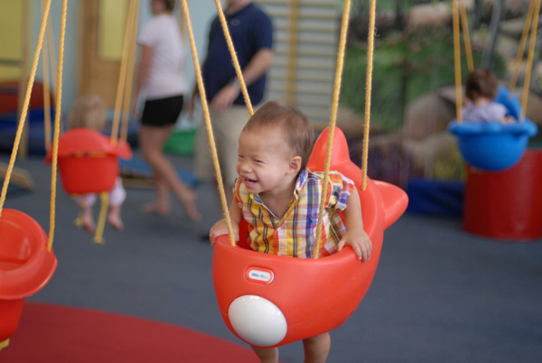 Noah on swing